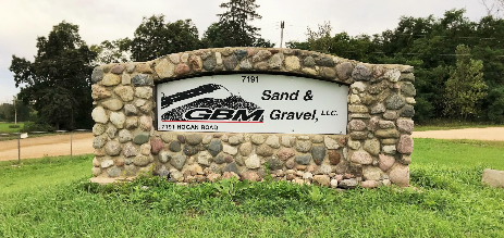 GBM Sand & Gravel Fenton Sign